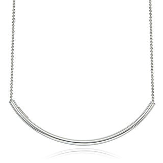 Mondevio Silver Arch Bar Necklace (2 options available)