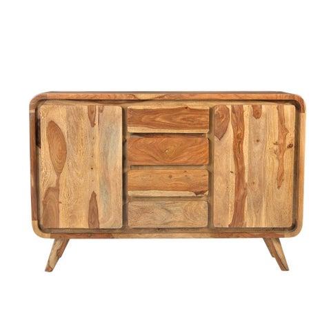 Handmade Wanderloot Oslo 2-door, 4-drawer Solid Sheesham Sideboard (India)