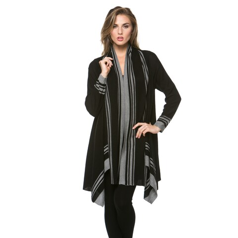 High Secret Women's Striped Open Cardigan