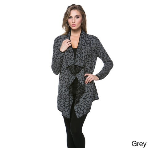 High Secret Women's Draped Open Front Cardigan