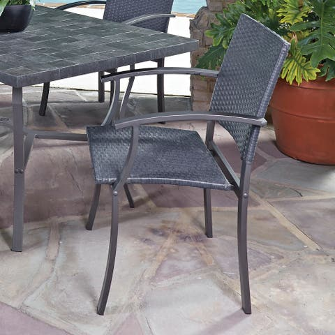 Cumberland Stone Outdoor Arm Chairs by Home Styles