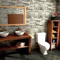 SomerTile 15.75x23.75-inch Ramble Grafito Porcelain Floor and Wall Tile (30 tiles/78.05 sqft.)