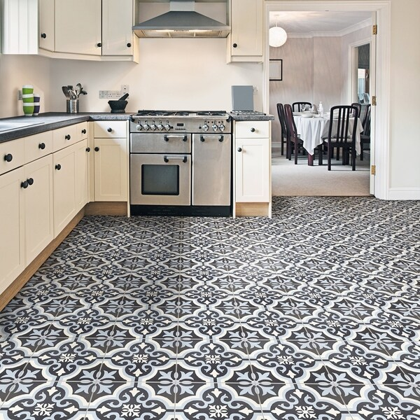 SomerTile 7.75x7.75-inch Cavado Blue Ceramic Floor and Wall Tile (25 ...