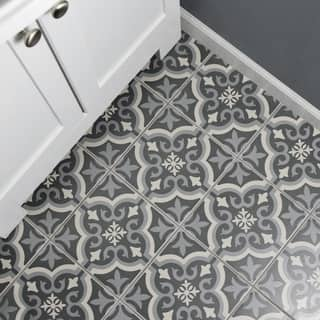 SomerTile 7.75 x 7.75-inch Cavado Black Ceramic Floor and Wall Tile (Case of 25)|https://ak1.ostkcdn.com/images/products/11047661/P18060061.jpg?impolicy=medium