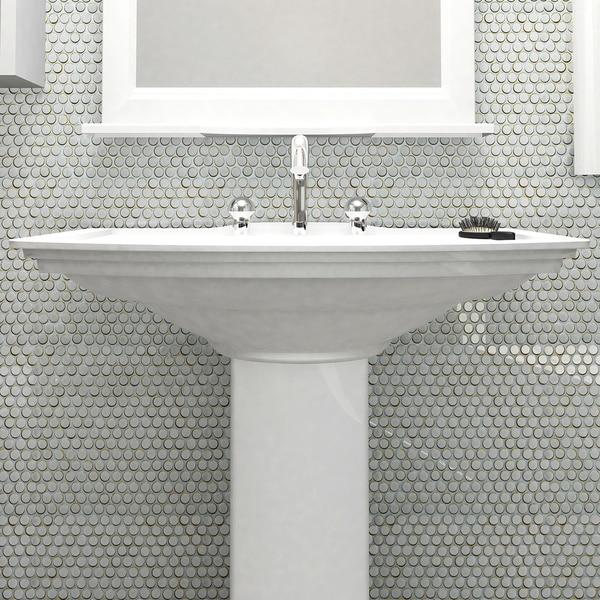 Somertile 12 x penny silk white porcelain for 12 x 12 white floor tile