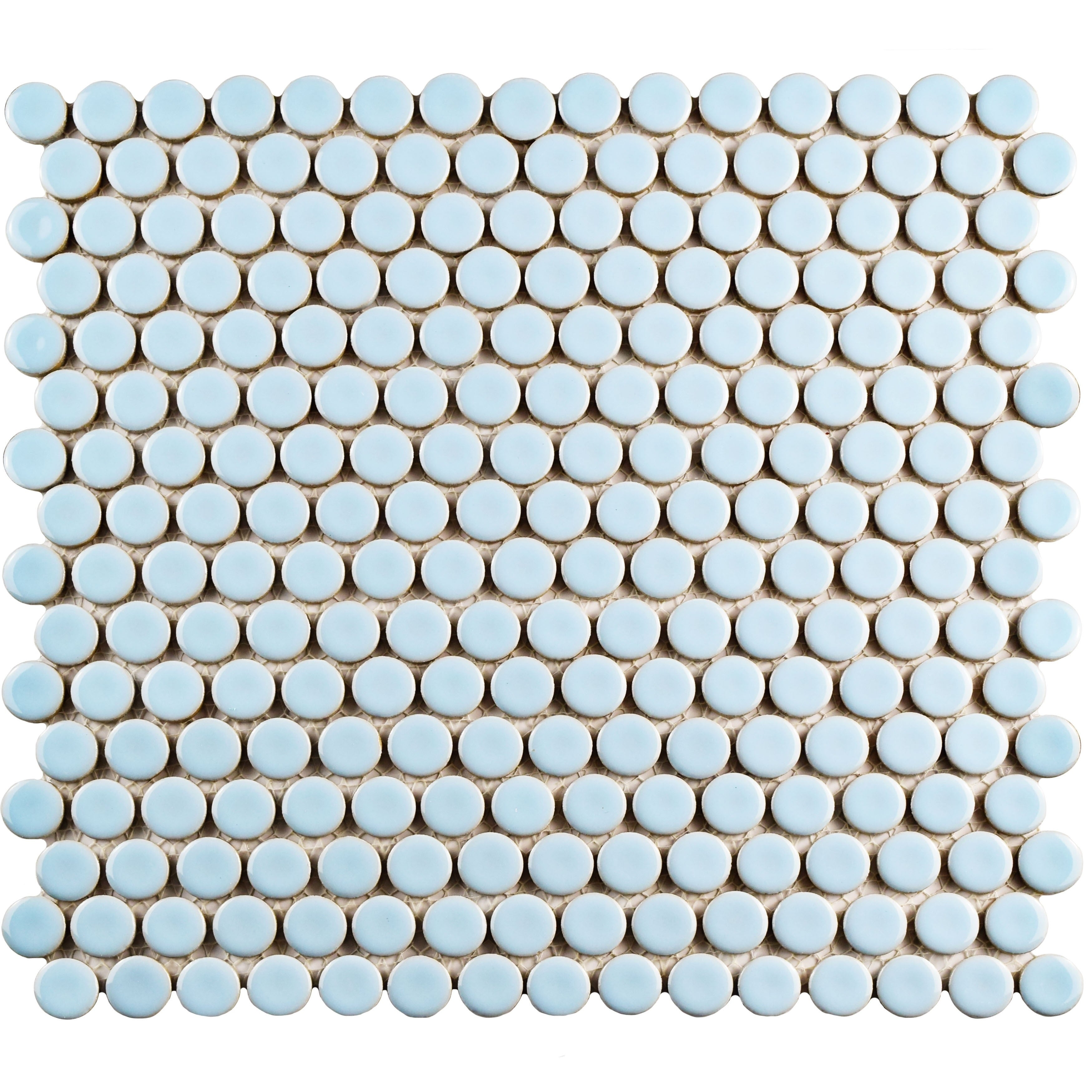 Somertile 12 x 12.625-inch Penny Cashmere Blue Porcelain ...