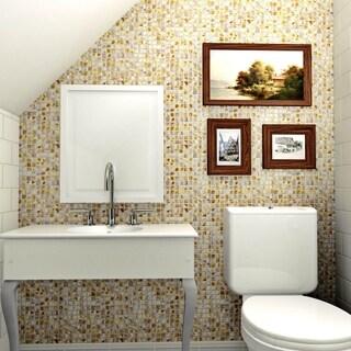 SomerTile 12x12-inch Seashell Square Natural Seashell Mosaic Wall Tile (10 tiles/10.21 sqft.)