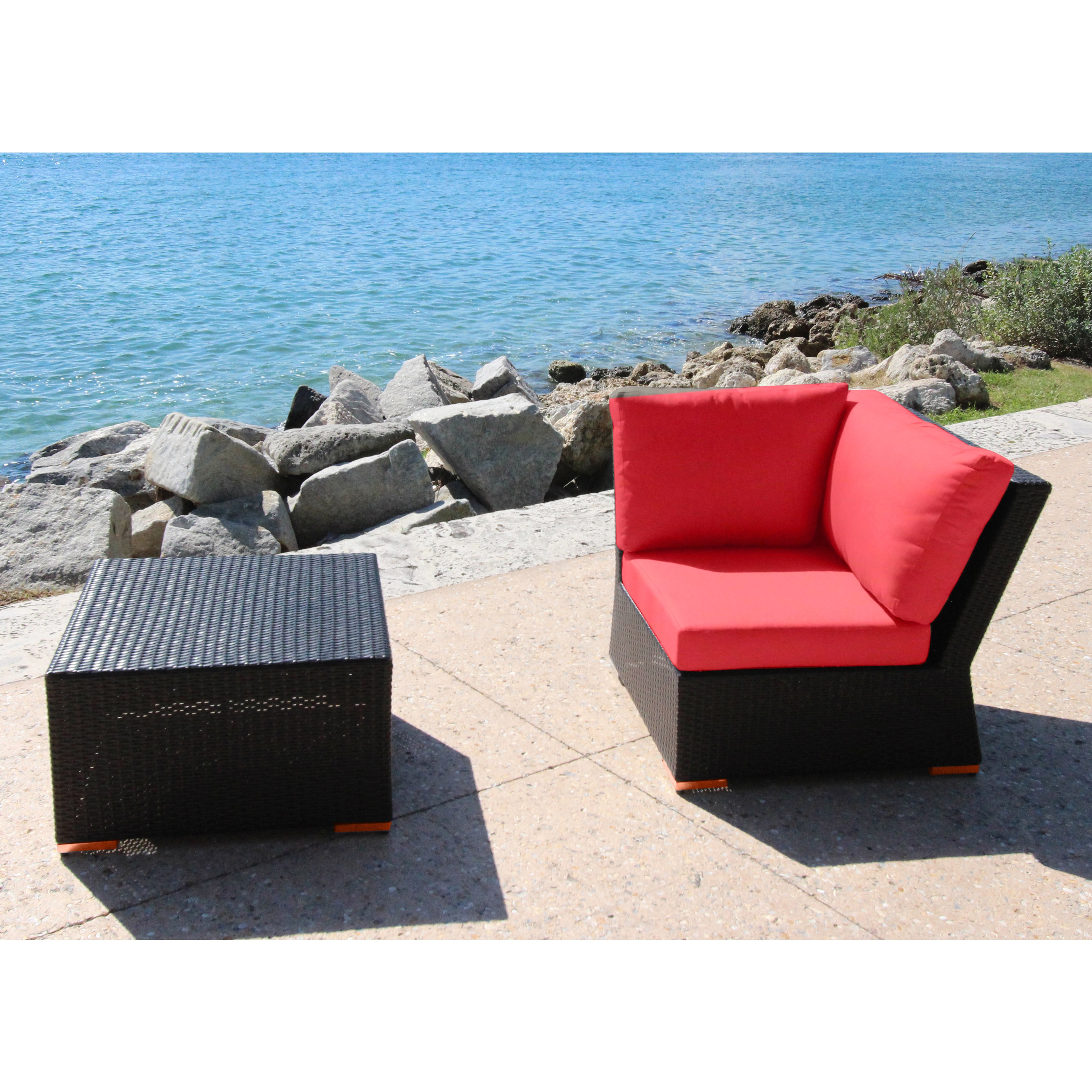 bellini home and garden marcelo 2 piece corner seating group with
