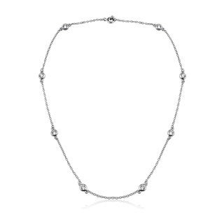 Collette Z Sterling Silver Clear Cubic Zirconia Accent Necklace