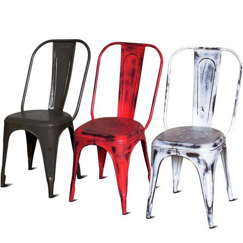 Handmade Wanderloot Cafe French Style Metal Dining Chair (India)