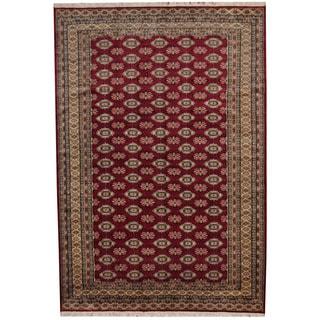 Herat Oriental Pakistani Hand-knotted Prince Bokhara Wool Rug (7' x 10')