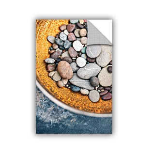 ArtAppealz Elena Ray 'Rusted Bowl Of River Stones' Removable Wall Art