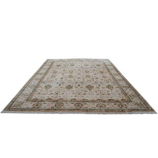 Herat Oriental Indo Hand-knotted Vegetable-dyed Ziegler Wool Rug (16' x 22'4)