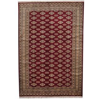 Herat Oriental Pakistani Hand-knotted Prince Bokhara Wool Rug (7' x 10'2)