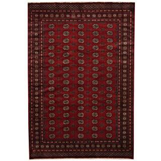 Herat Oriental Pakistani Hand-knotted Prince Bokhara Wool Rug (6'7 x 9'9)