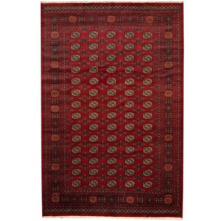 Herat Oriental Pakistani Hand-knotted Prince Bokhara Wool Rug (6'8 x 10')
