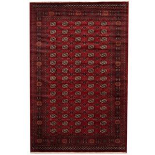 Herat Oriental Pakistani Hand-knotted Prince Bokhara Wool Rug (6'8 x 10'2)