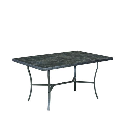 The Cumberland Stone Outdoor Rectangular Table by Home Styles