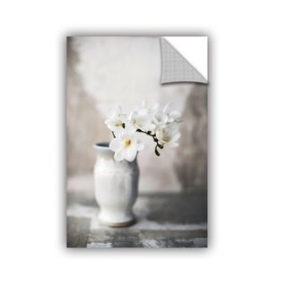 ArtAppealz Elena Ray 'White Orchid' Removable Wall Art