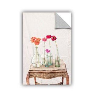 ArtAppealz Elena Ray 'Zinnia Flowers' Removable Wall Art