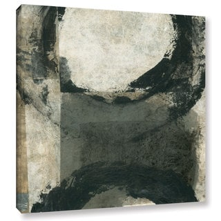 ArtWall Elena Ray 'Abstract Gray With Black Circles' Gallery-wrapped Canvas