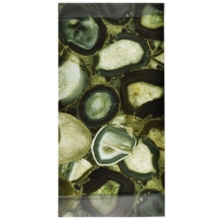 SomerTile 11.75x23.75-inch Fossilis Panorama Geode Verde Glass Wall Tile
