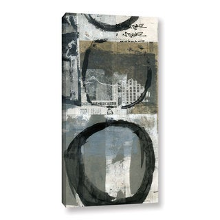 ArtWall Elena Ray 'Black Ink Enso Circle' Gallery-wrapped Canvas