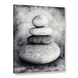 ArtWall Elena Ray 'Black And White Sea Stones' Gallery-wrapped Canvas