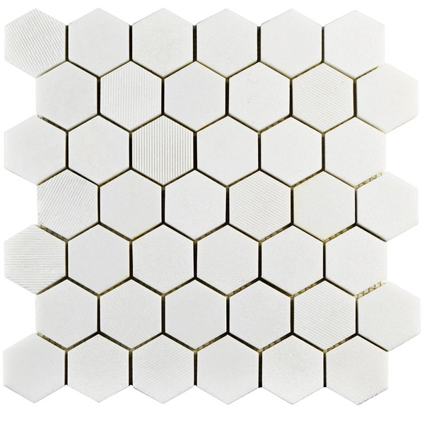 somertile structura due hex thassos white