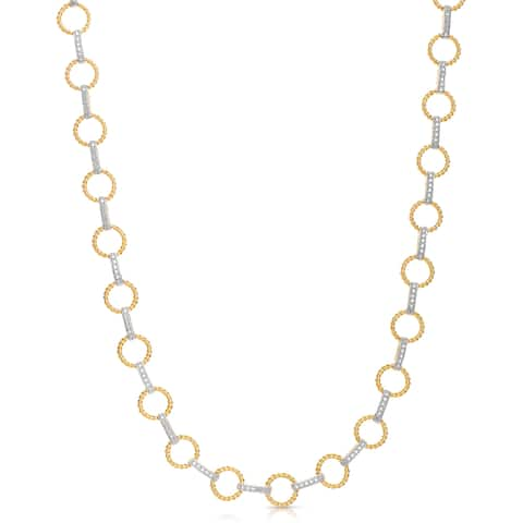 Collette Z Sterling Silver Chain Link Necklace - White