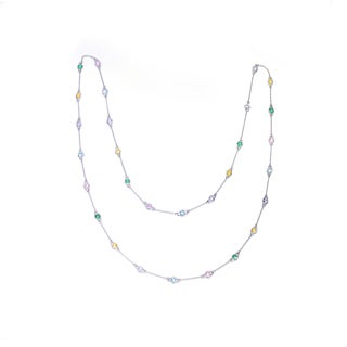 Collette Z Sterling Silver Station Chain Necklace