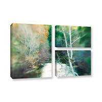ArtWall Elena Ray 'Calm River' 3 Piece Gallery-wrapped Canvas Flag Set - Multi