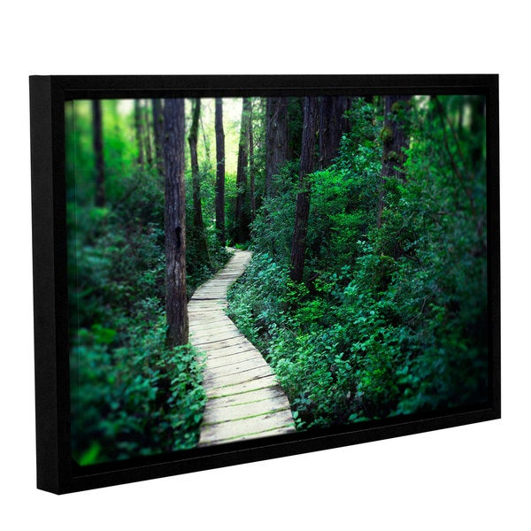ArtWall Elena Ray 'Earth Path ' Gallery-wrapped Floater-framed Canvas