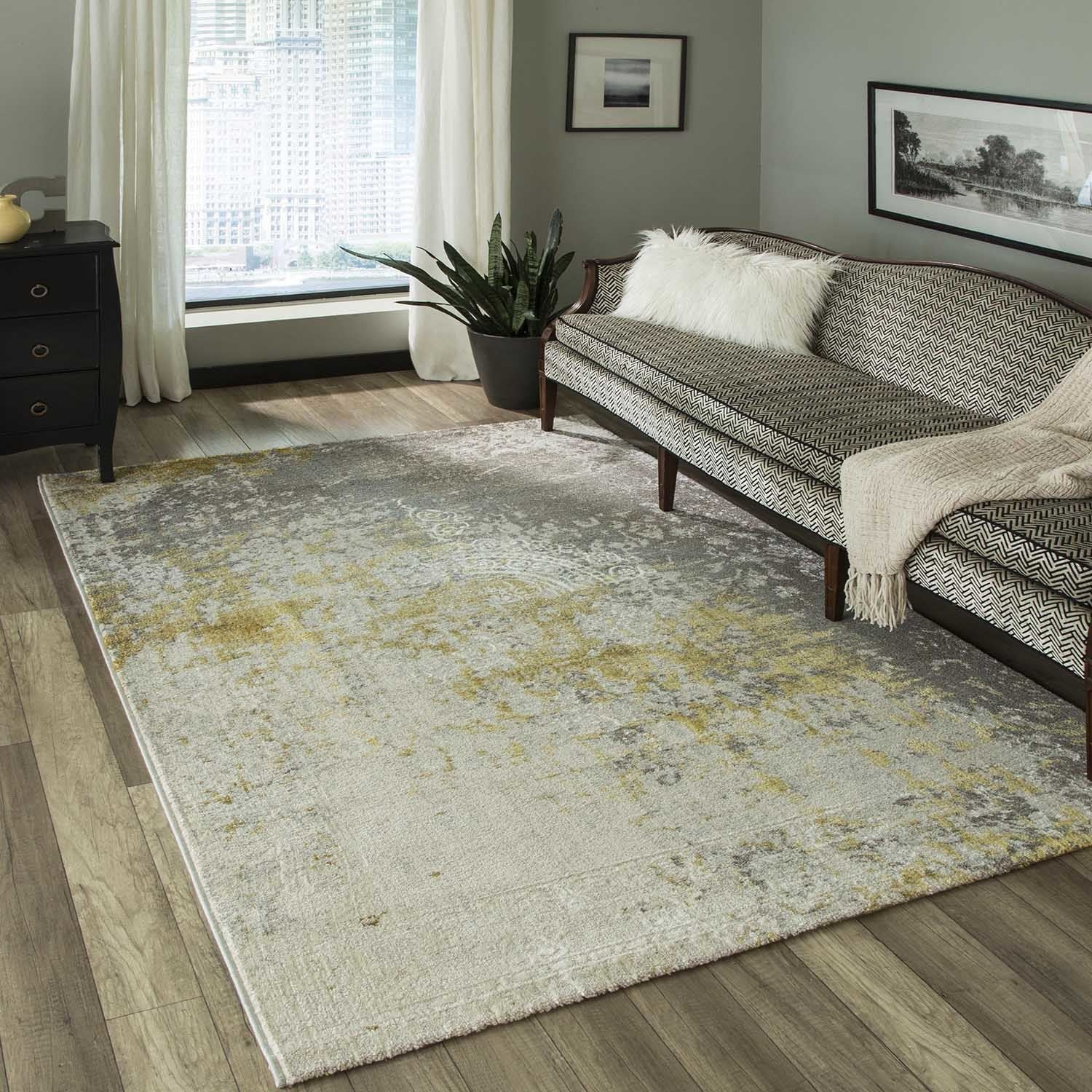 Momeni Luxe Gold Rug 5 3 X 7 6
