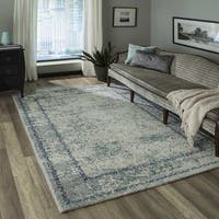 "Momeni Luxe Blue Rug - 5'3"" x 7'6"""