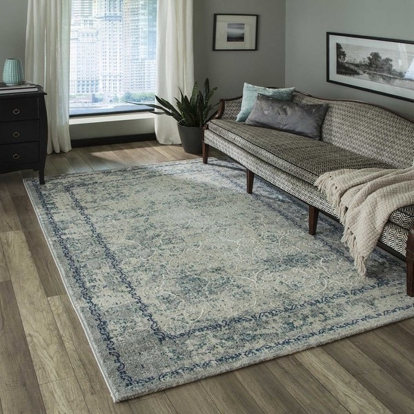 Momeni Luxe Blue Rug - 7'10 X 9'10