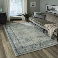Momeni Luxe Blue Rug (7'10 X 9'10)