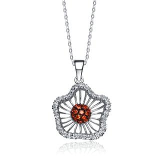 Collette Z Sterling Silver Cubic Zirconia Heart of Fire Pendant