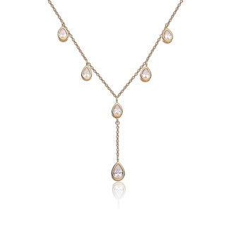 Collette Z Sterling Silver Gold Plated Cubic Zirconia Y Necklace