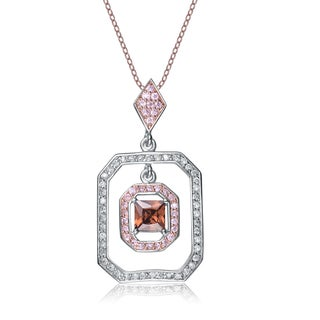 Collette Z Sterling Silver Cubic Zirconia Geometric Pendant