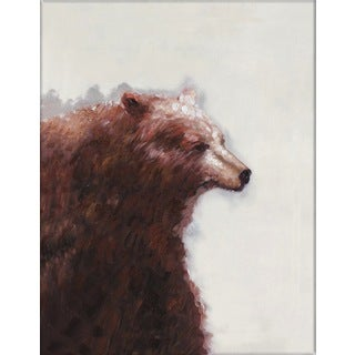 Benjamin Parker 'Bear Right' 30 x 40-inch Hand-painted Wall Art