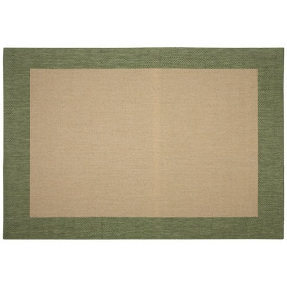 Pawley's Island Islander Natural/ Green Porch Rug (2' x 3'7)