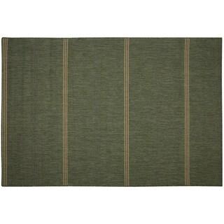 Pawley's Island Inlet Stripe Green Porch Rug (2' x 3'7)