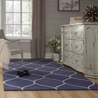 Momeni Newport Blue Hand-Tufted Wool Rug (8' X 10')