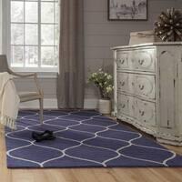 "Momeni Newport Blue Hand-Tufted Wool Rug (3'9 X 5'9) - 3'9"" x 5'9"""