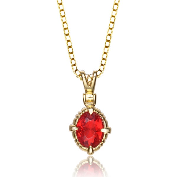 Jewelry & Watches Engagement & Wedding Great Varieties Bright Sterling Silver Red Aaa Zircon Pendant Necklace