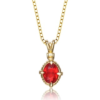 Collette Z Gold Plated Sterling Silver Cubic Zirconia Fire Pendant