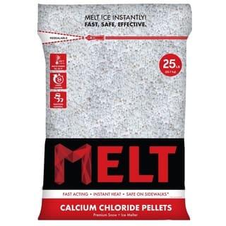25-LB Calcium Chloride Pellets Ice Melter - Resealable Bag - MELT25CCP - White
