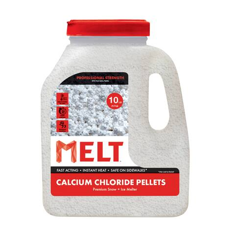 Calcium Chloride Pellets Ice Melter 10 lb. Jug - White