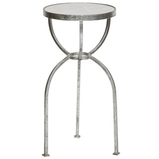 White Granite Top Accent Table